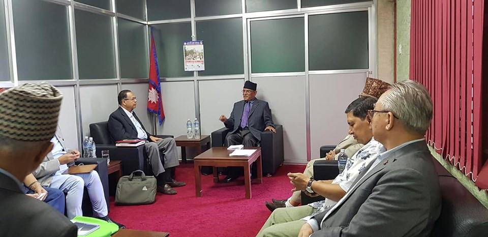 नेकपा सचिवालय बैठकमा एमसीसी र संविधान संशोधनबारे छलफल