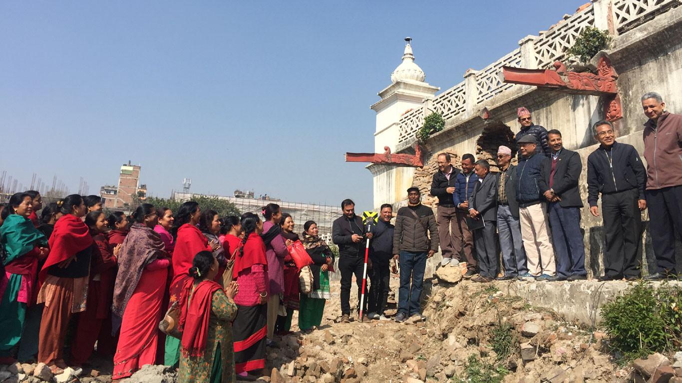बल्ल शुरु भो रानीपोखरीको पुनर्निर्माण