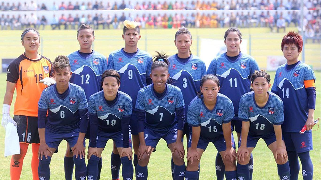 महिला फुटबलः नेपालविरुद्ध भारतको गोल, नेपाल १–० ले पछि
