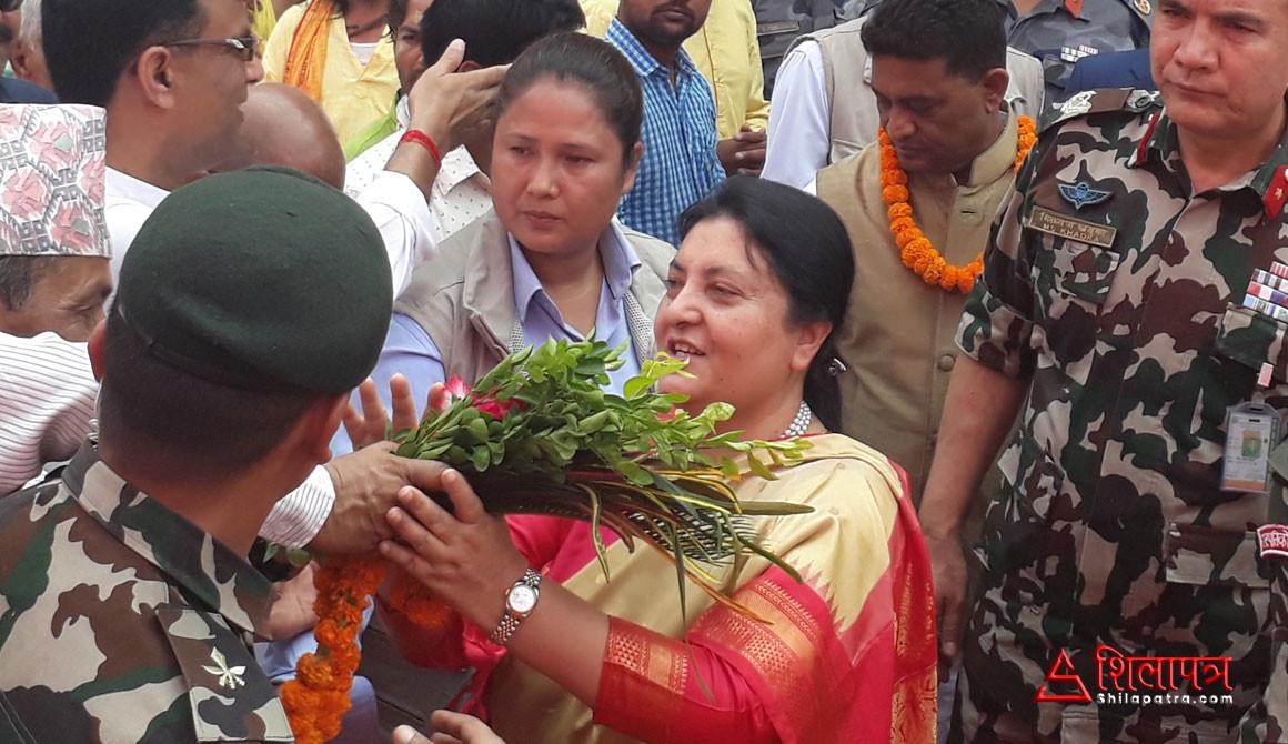 राष्ट्रपति भण्डारी जनकपुरमा (फोटो फिचर)