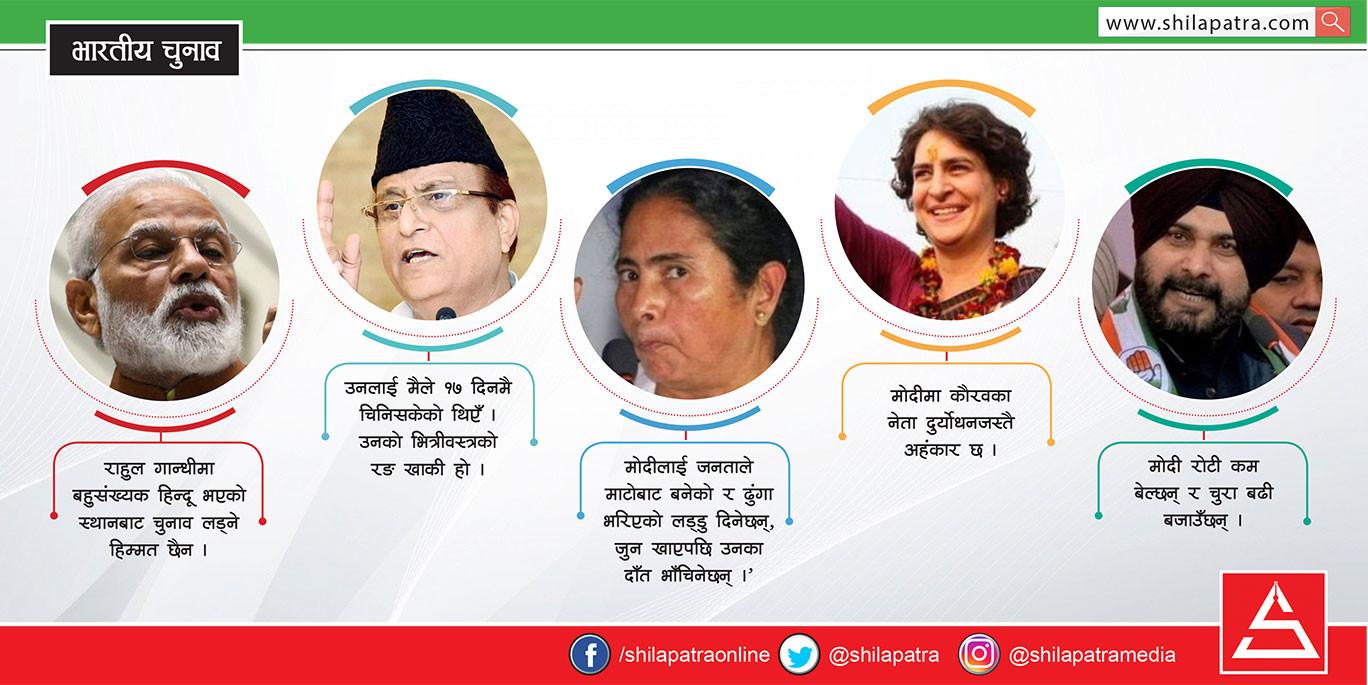 भारतीय नेताका विवादित भाषण