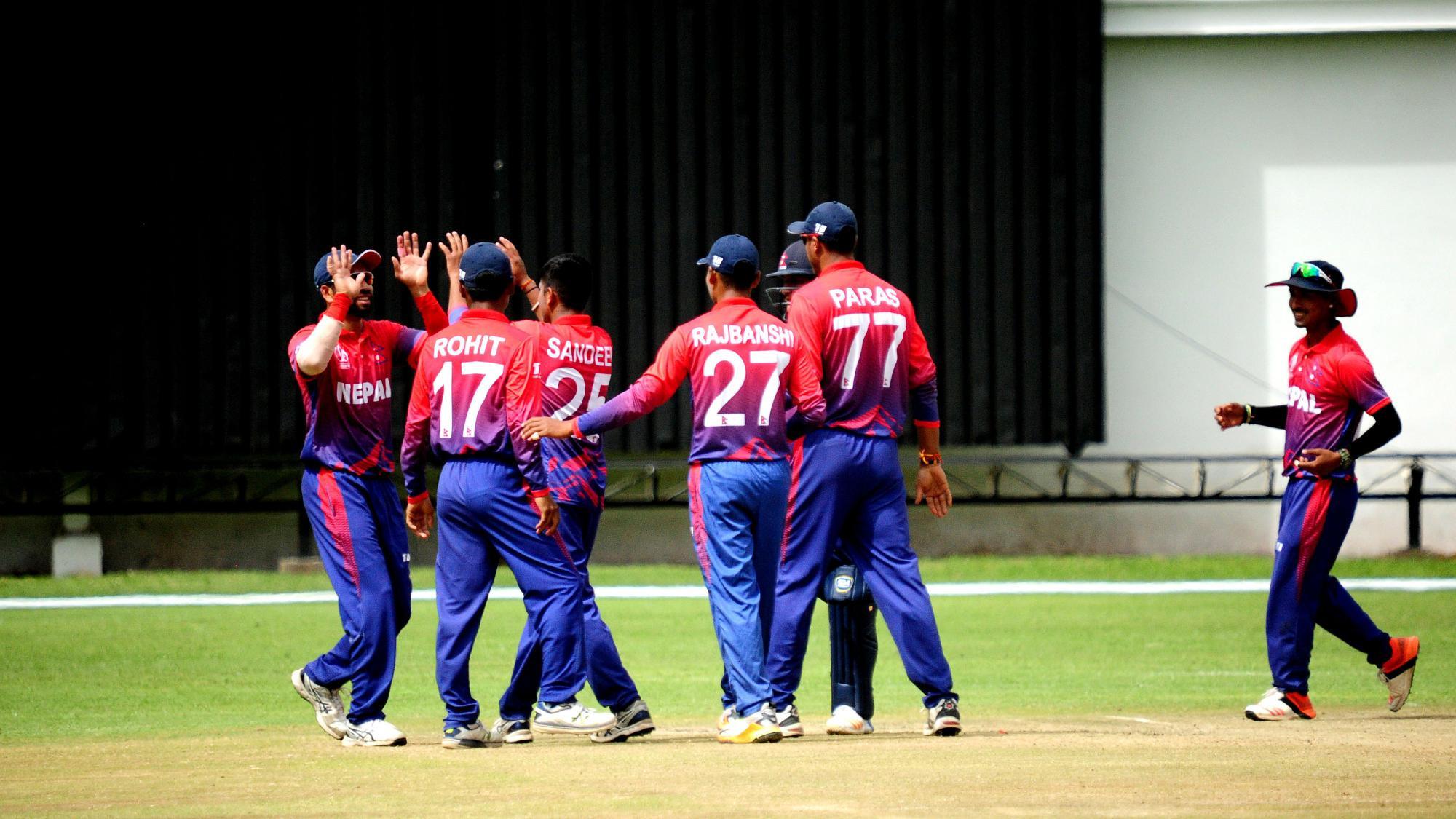 साग खेलकुदः पुरुष क्रिकेटमा श्रीलंकासँग नेपाल पराजित