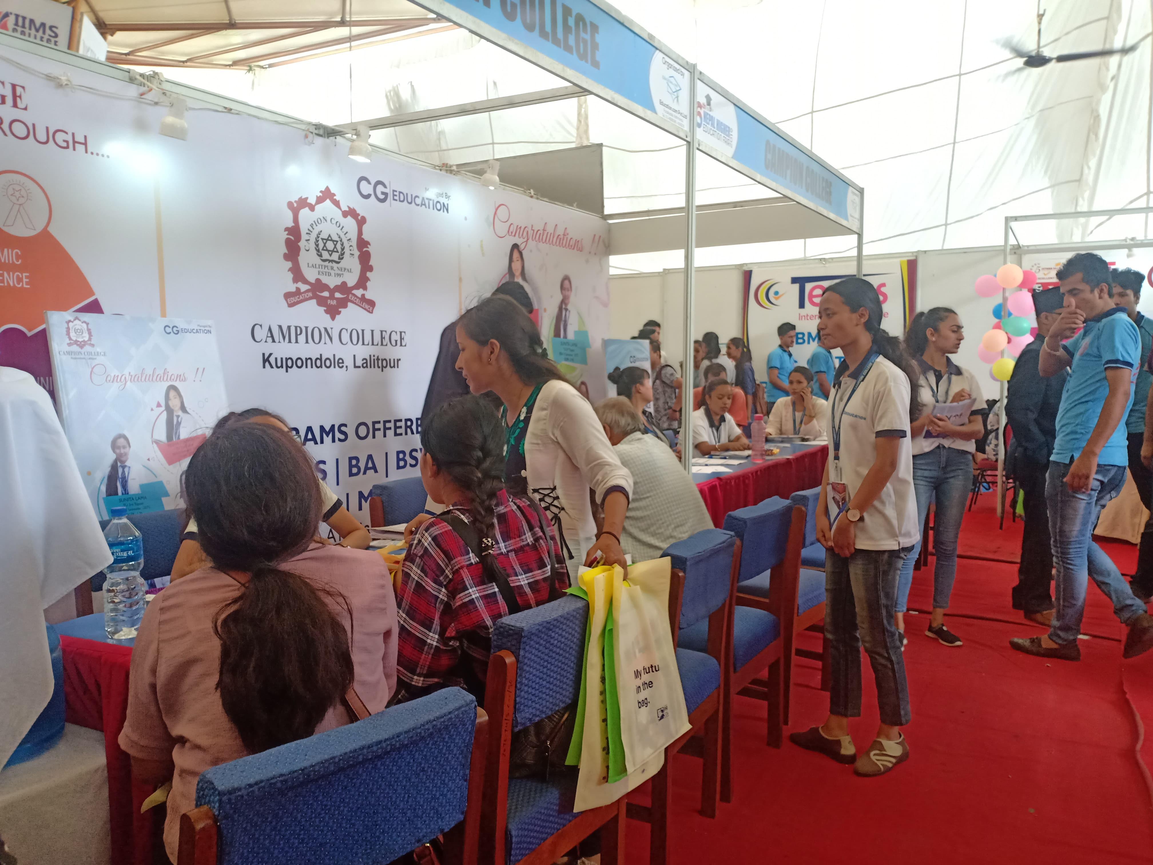 नेपाल हाइयर एजुकेशन फेयरमा विद्यार्थीको चासो