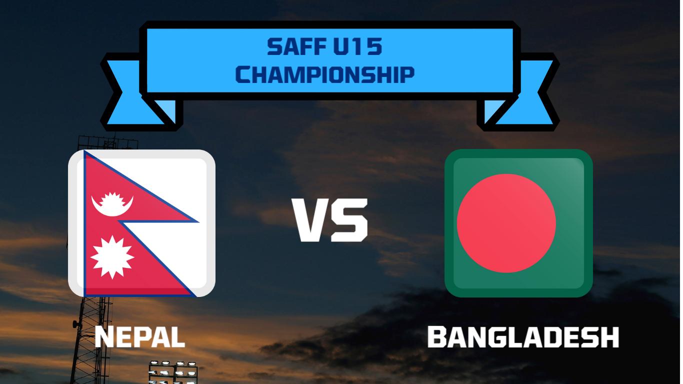 साफ यू १५ फुटबलः नेपालले बंगलादेशसँग खेल्दै