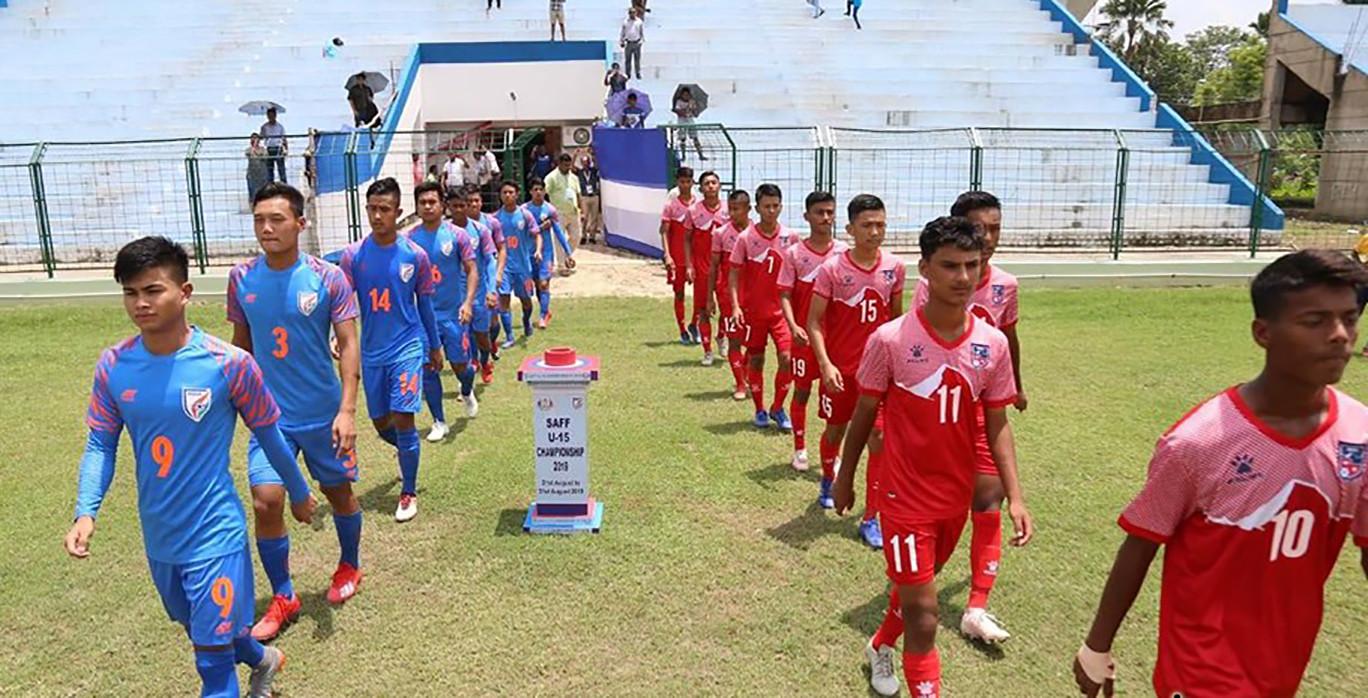 साफ च्याम्पियनसिप फाइनलमा नेपाल भर्सेस भारत