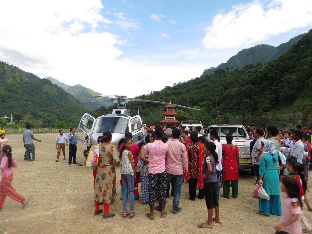 म्याग्दीमा जीप दुर्घटना : घाइतेलाई हेलिकप्टरबाट काठमाडौं लगियो