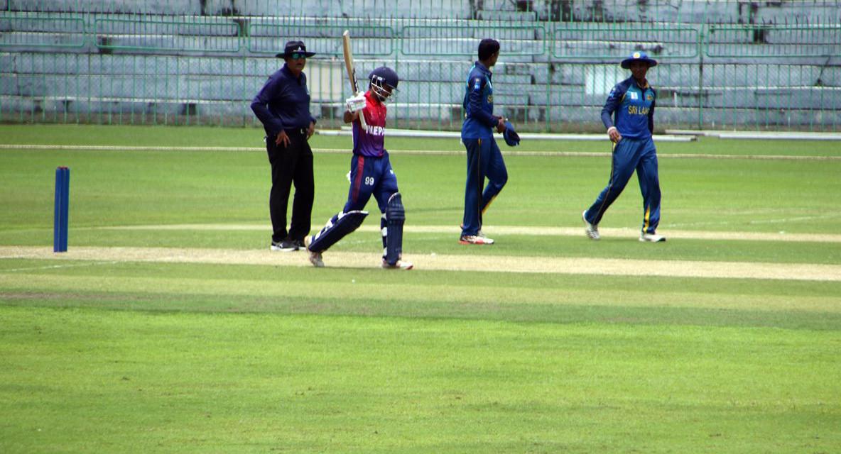 यु–१९ एसिया कप : नेपाल श्रीलंकासँग पराजित