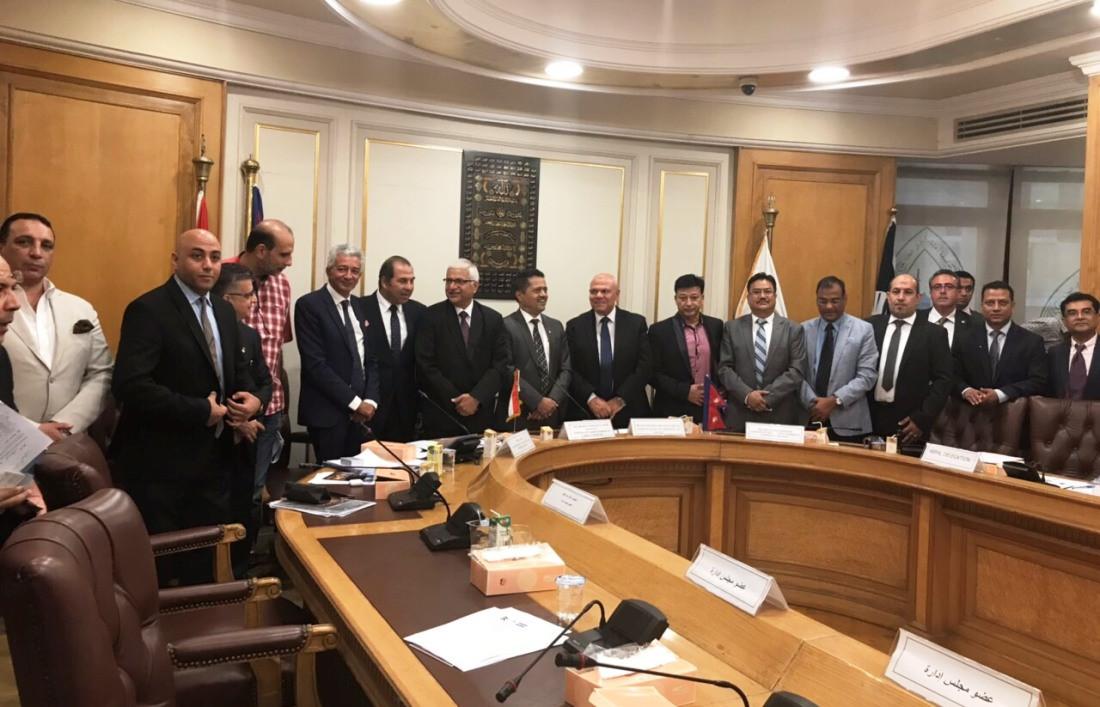 एनईसीसीआई र इजिप्टका विभिन्न कम्पनीहरूबीच छलफल तथा सम्झौता