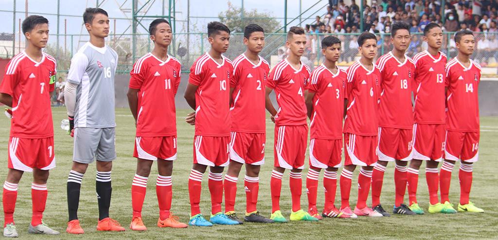 एएफसी यू–१६ च्याम्पियनसिप छनोट : जोर्डनसँग भिँड्दै नेपाल