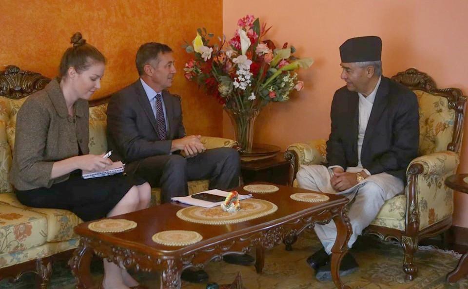 सी पथको प्रशिक्षणलगत्तै अमेरिकी राजदूतले भेटे देउवा र नेपाललाई