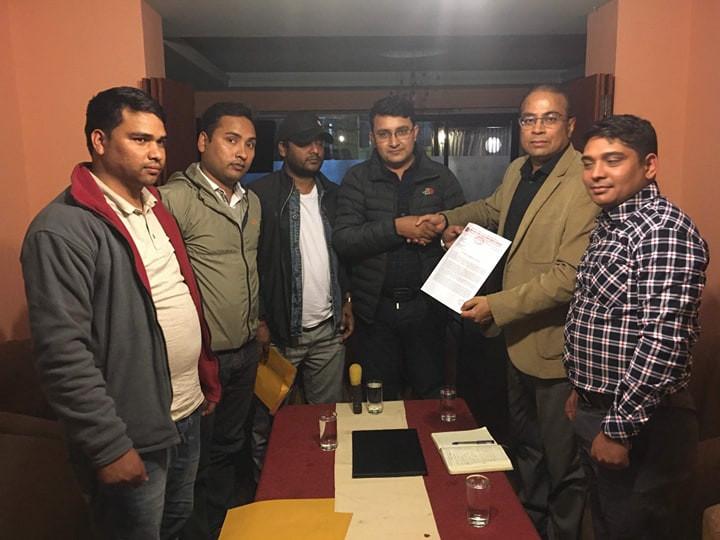 राष्ट्रसंघ र भारतीय दूतावासलाई विप्लव निकट विद्यार्थीको ज्ञापनपत्र