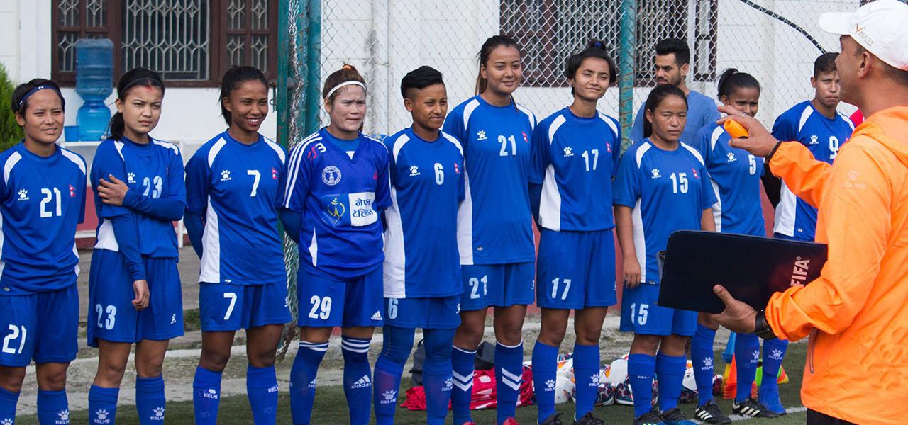 सागका लागि महिला फुटबल टोलीको घोषणा