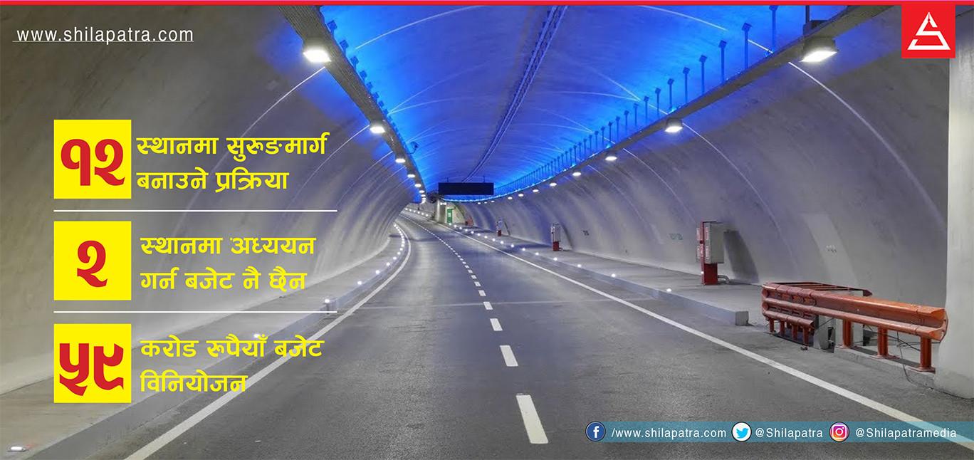 नेपालमा सुरुङमार्गः १२ ठाउँको योजना, बानेश्वर र कोटेश्वर रातो किताबमै परेनन्