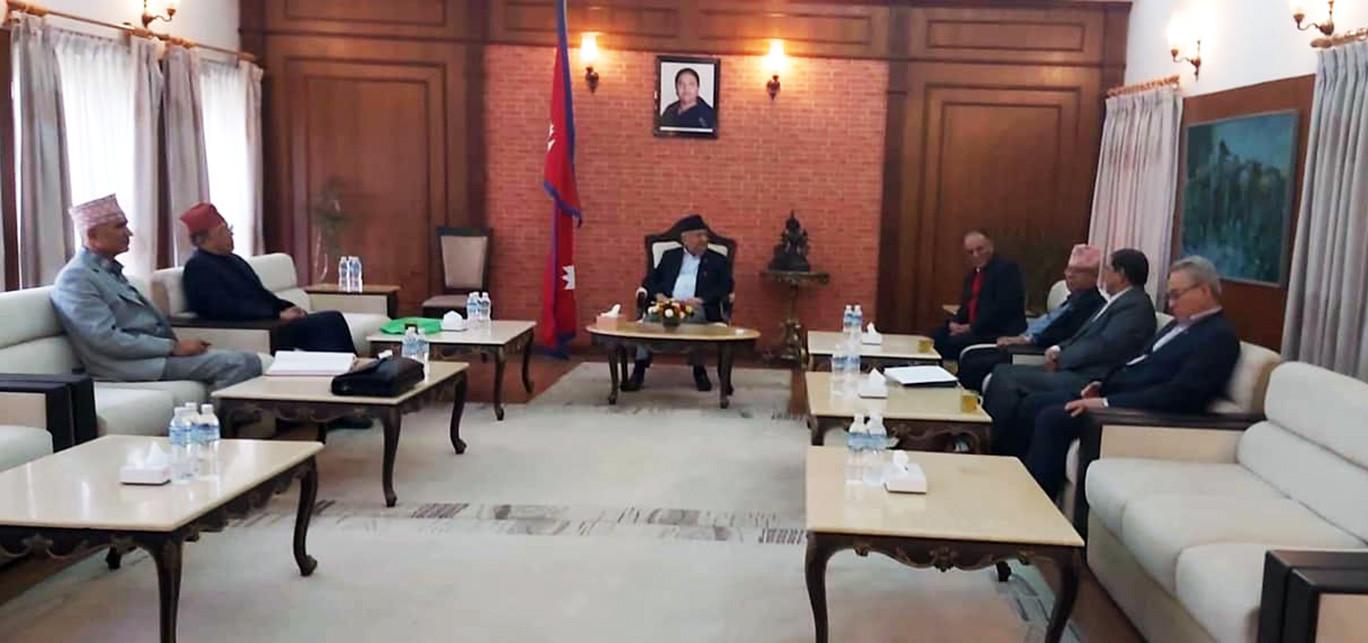 प्रचण्ड नेकपाको कार्यकारी अध्यक्ष, संसदको कार्यकालभर प्रधानमन्त्री केपी ओली नै