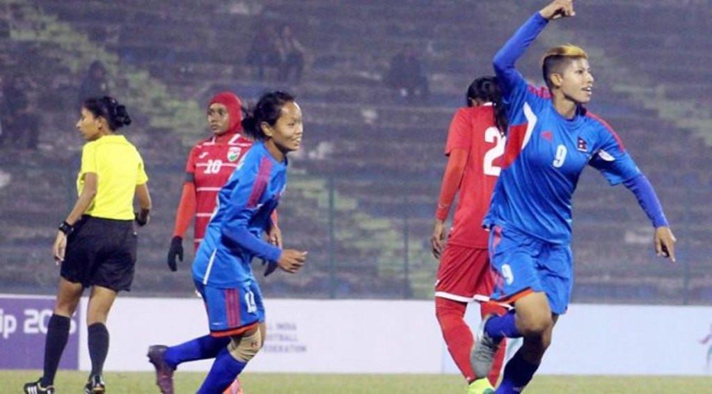 नेपाल महिला फुटबलको फाइनलमा, सावित्राको ह्याट्रिक