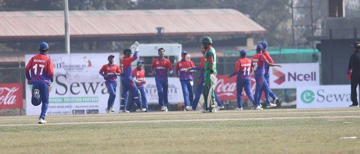 साग पुरूष क्रिकेटः नेपाल बंगलादेशसँग पराजित, फाइनल यात्रा रोकियो