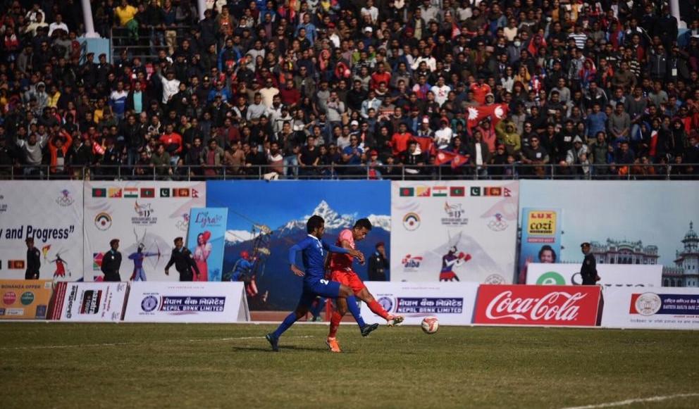 साग पुरुष फुटबलमा माल्दिभ्सलाई हराउँदै नेपाल फाइनलमा