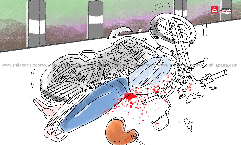 हेटौँडामा ट्रकको ठक्करबाट स्कुटर चालकको मृत्यु