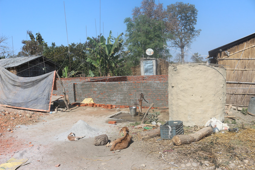 सुस्तामा पक्की घर निर्माण गर्दै सरकार