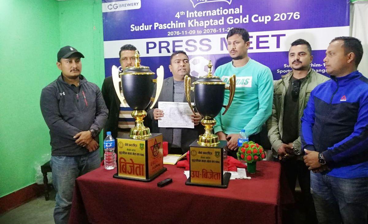नेपाल आइस चौथो अन्तर्राष्ट्रिय खप्तड गोल्ड कपको ट्रफी सार्वजनिक