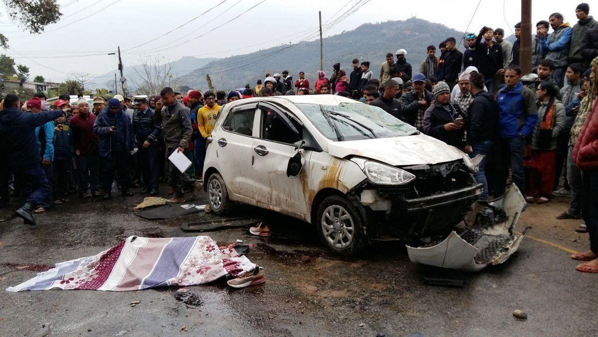 छोरेपाटनको कार दुर्घटनामा गम्भीर घाइते बालिकाको मृत्यु