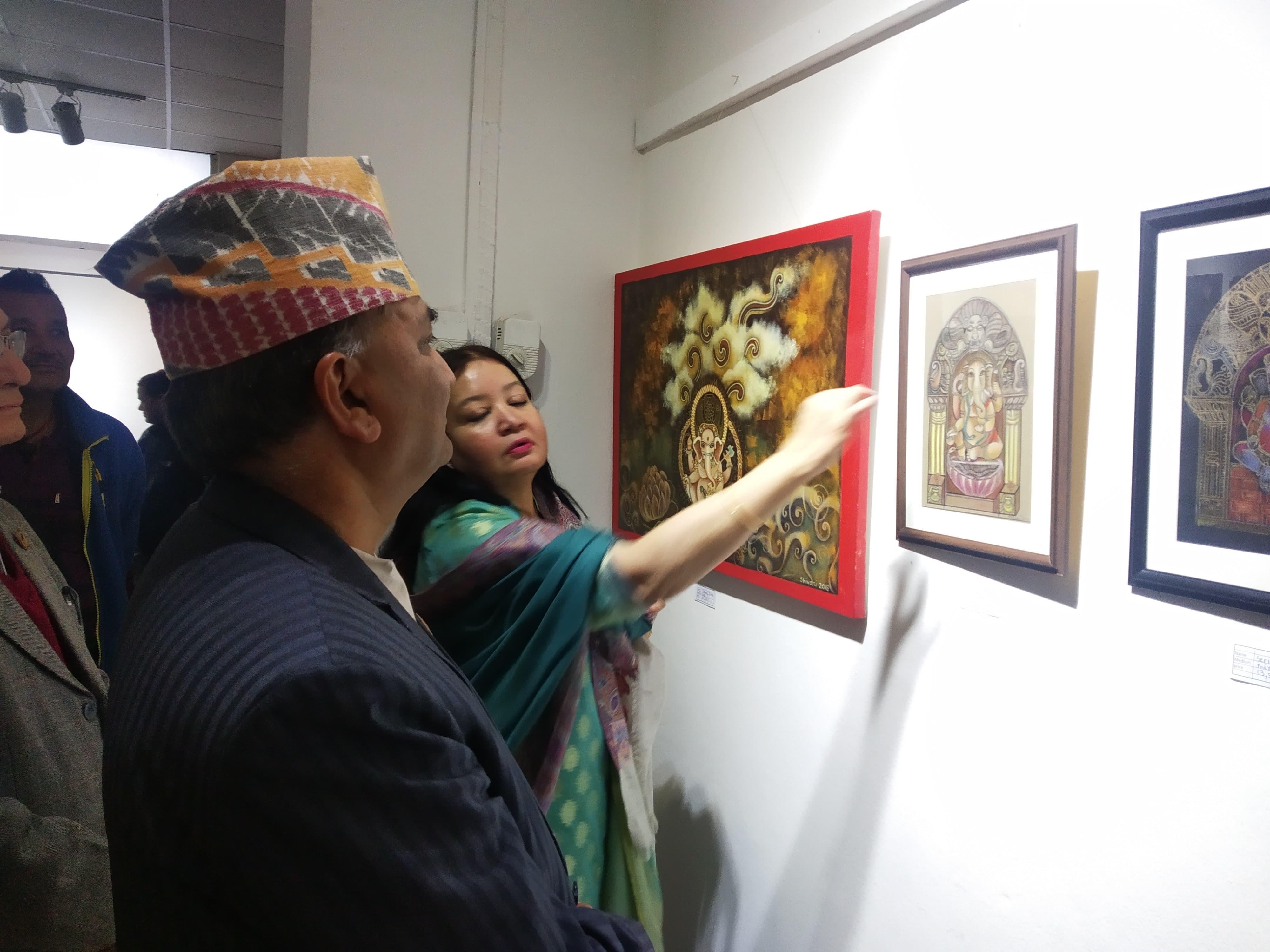आर्ट ग्यालरीमा शिवानीका चित्र