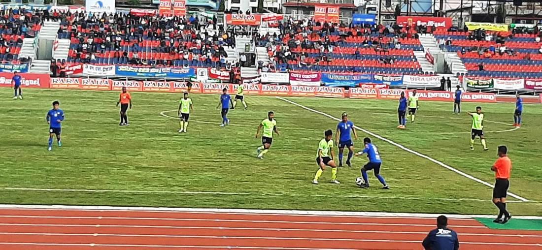 संकटालाई ३–० ले पराजित गर्दै त्रिभुवन आर्मी सेमिफाइनलमा