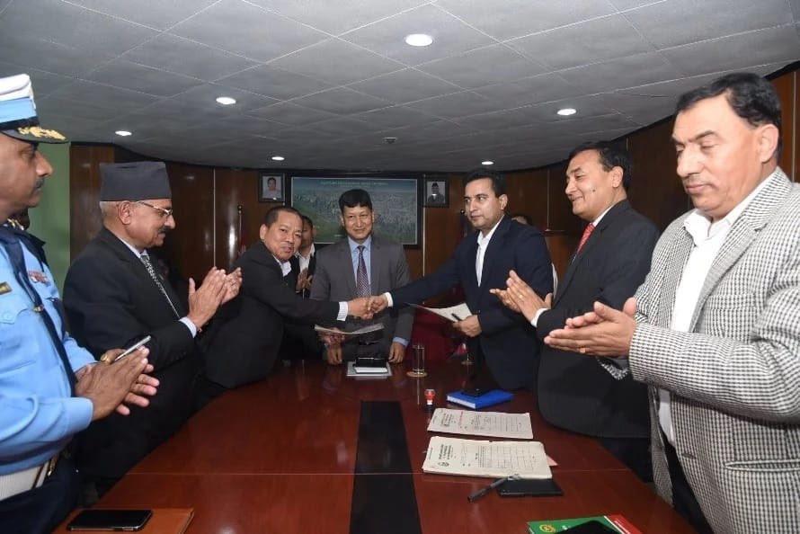 शहरी सौन्दर्यमा प्रभु बैंक र काठमाडौं महानगरबीच सम्झौता