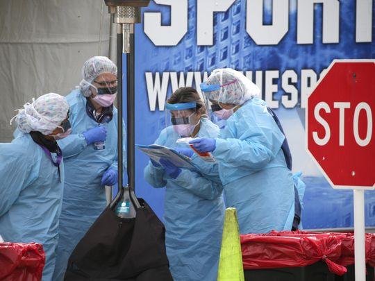 कोरोना महामारीः अमेरिकामा एकै दिन ३२ हजार संक्रमित थपिए, १३ सयको मृत्यु