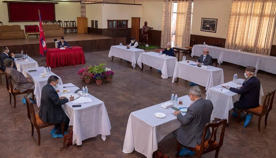 बालुवाटारमा नेकपाको सचिवालय बैठक सुरु