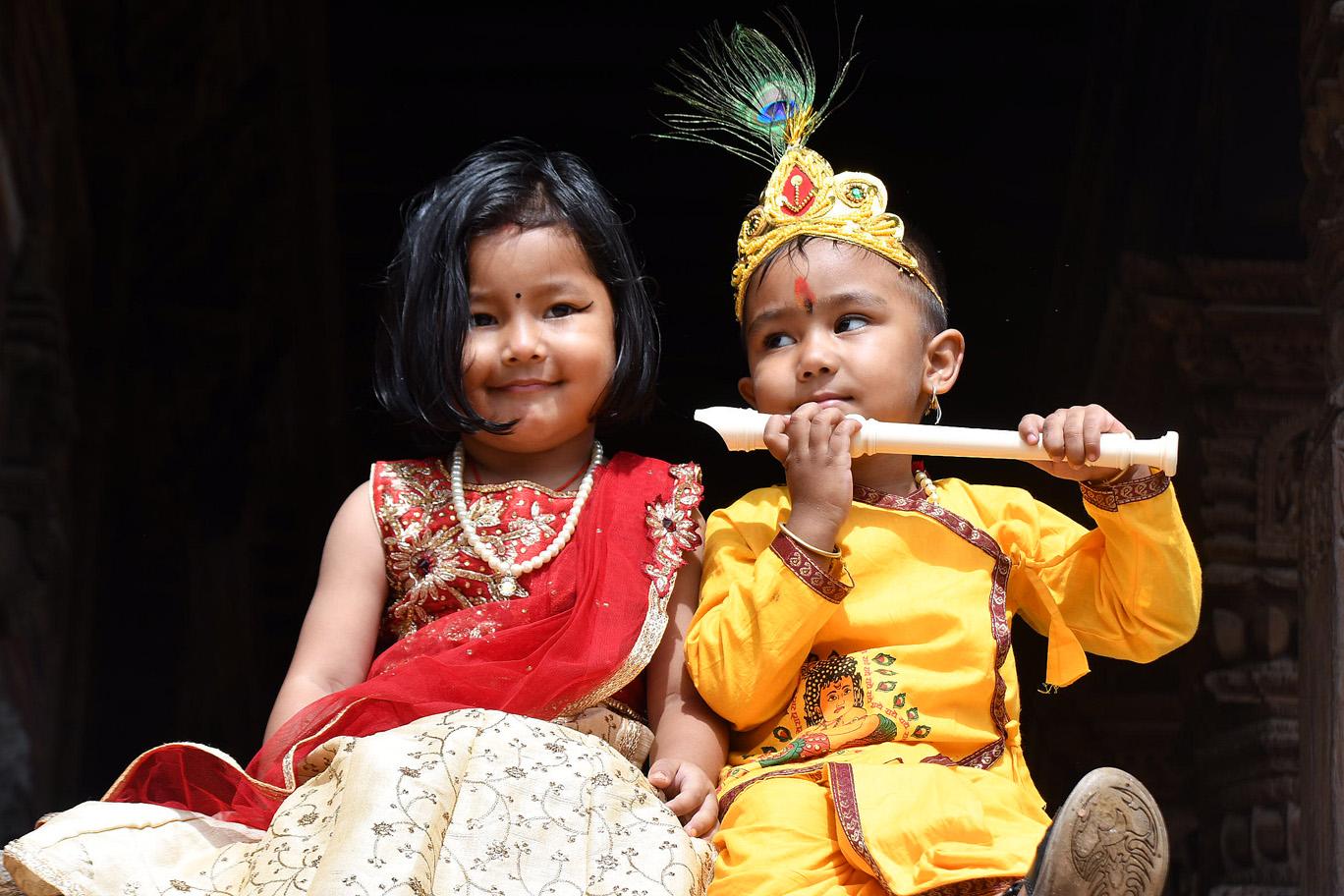 पाटनको कृष्ण मन्दिरमा जन्माष्टमीको रौनक