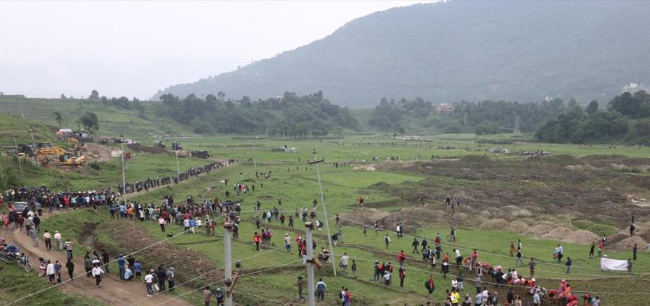 ललितपुरको खोकनामा किसान र प्रहरीबीच झडप