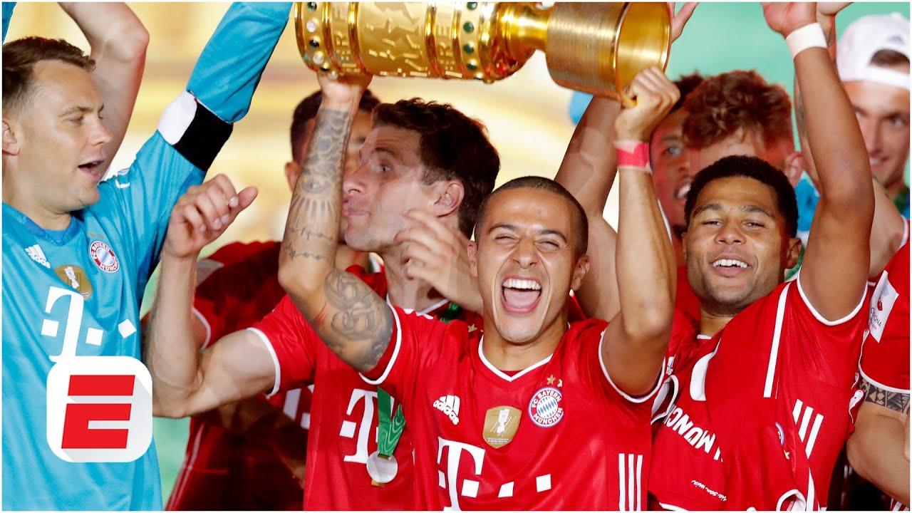 बायर्न म्युनिख बन्याे जर्मन कप फुटबलको च्याम्पियन